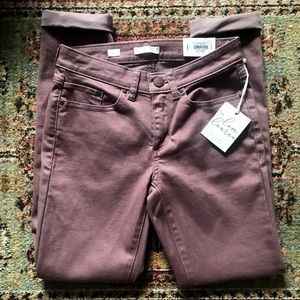 NWT LC Lauren Conrad Mauve Skinny Ankle Jeans